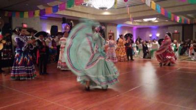 Dancers at International Mexican Dinner Dance