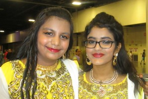Aditi Sarkar and Puspa Majumder from Team Jhankaar are all smiles after their dance.