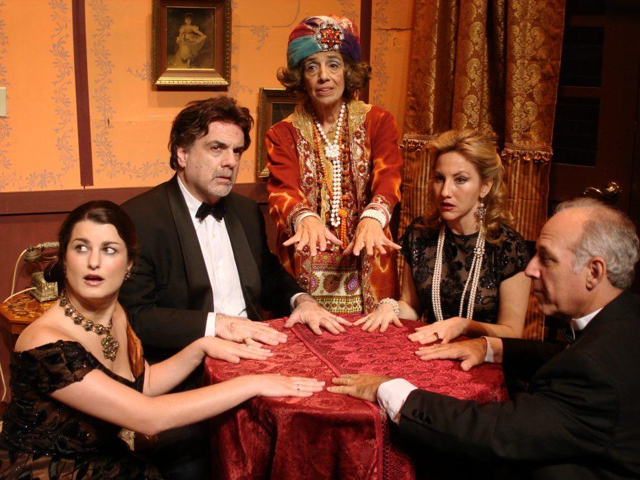 "Photo courtesy, Curtain Call Playhouse, of the play ""Blithe Spirit"" by Noel Coward"
