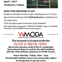 Make your own glass art at WMODA