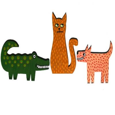 Byob craft party for adults paint wood animals presented for Dog crafts for adults
