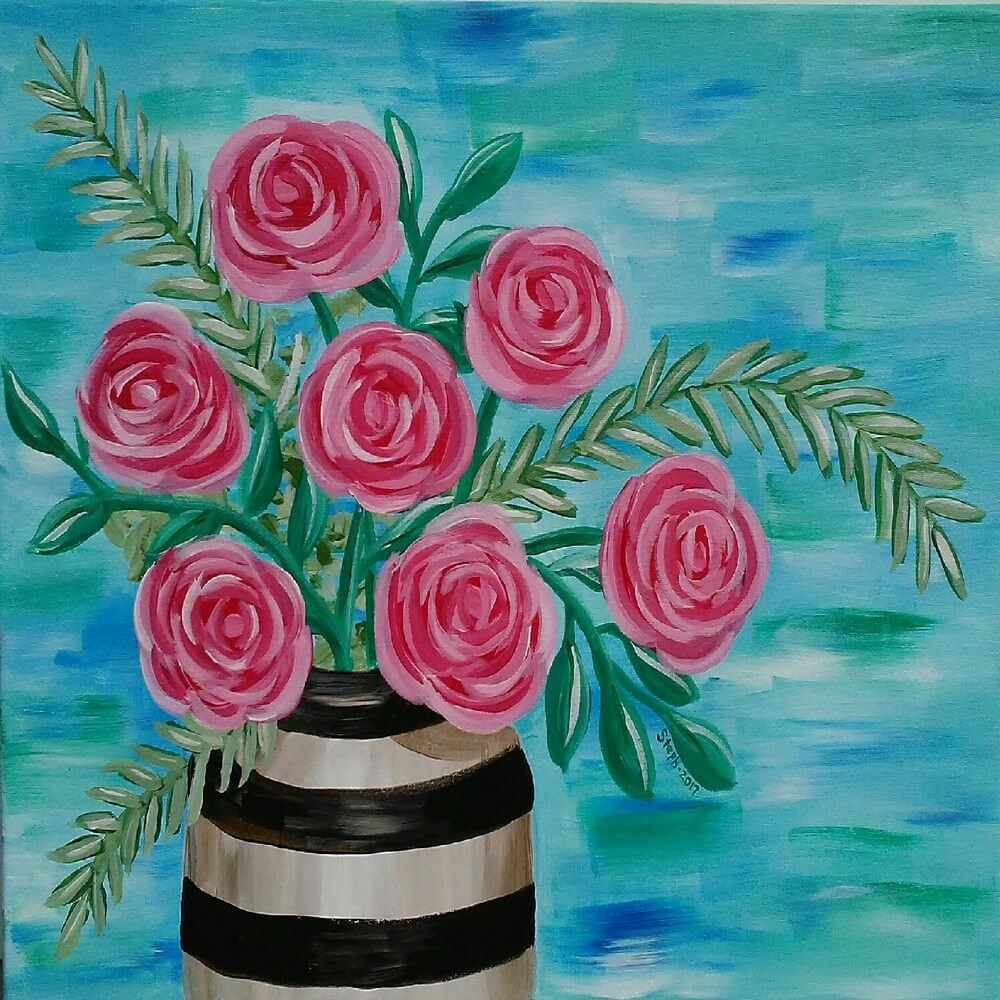 Mothers 39 day painting party presented by arts and crafts for Mothers day painting crafts