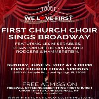 First Church Choir Sings Broadway