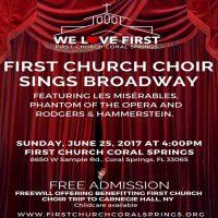First Church Choir Sings Broadway