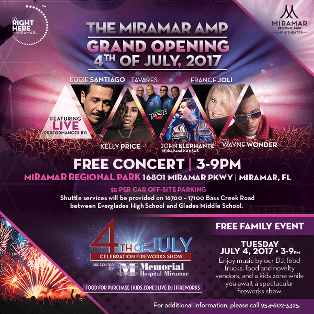 The miramar amphitheater grand opening and 4th of july for The miramar