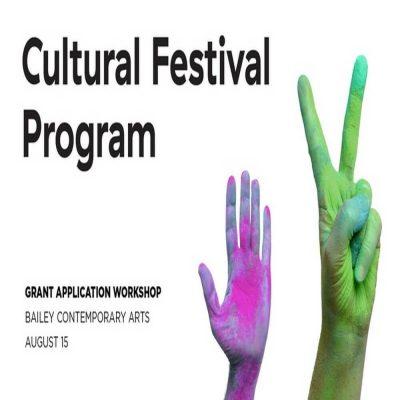 Cultural Festival Program Application Workshop 3