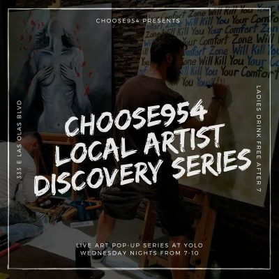 Continually Looking For Local Artists To Live Paint On Wednesday Nights @ YOLO
