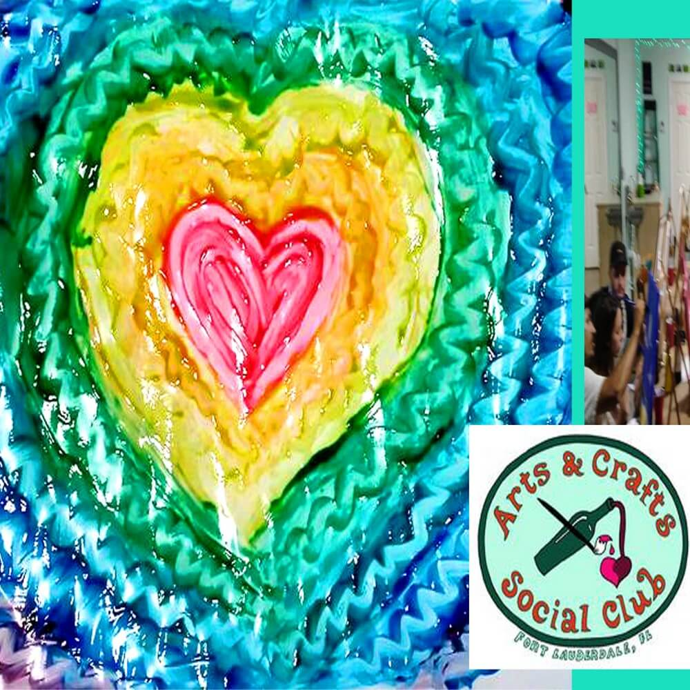 Throwback thursday byob craft party finger paint old for Christmas classic art craft festival