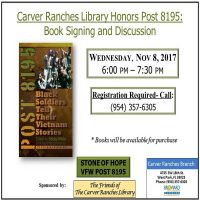 Carver Ranches Library Honors Post 8195: Book Signing and Discussion
