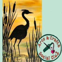 """BYOB Painting Class - """"Heron with Cattails"""""""