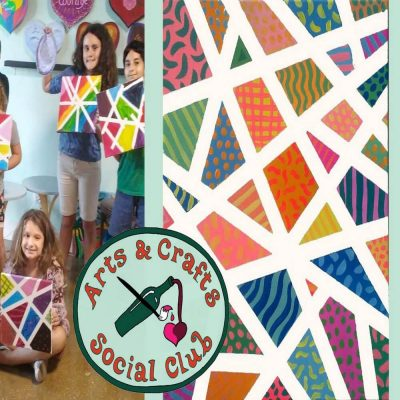 """Family Painting Class - """"Abstract Angled Patterns""""..."""