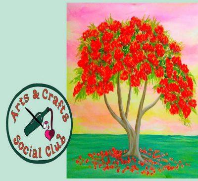 "BYOB Painting Class - ""Royal Poinciana"""