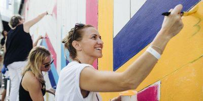 Main Course a Multi-Sensory Mural Experience