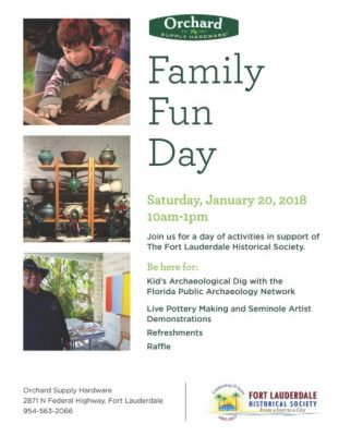 Orchard Supply Hardware Family Fun Day in support of Fort Lauderdale Historical Society