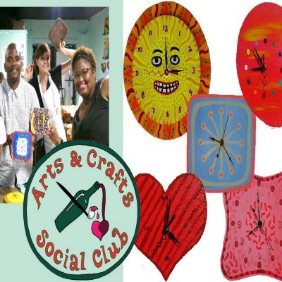 """Family-Friendly Craft Session: """"Paint and Assemble Wood Clocks"""""""