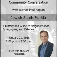 Jewish South Florida: A Community Conversation with Author Paul Kaplan