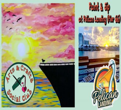 Paint & Sip OFFSITE at Pelican Landing (Pier 6...