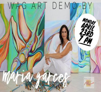 WAG Monthly Meeting and Art Demo by Artist María Garcés Luzuriaga