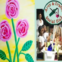 """BYOB Painting Class - """"Three Roses"""" (A MOTHERS' DAY GIFT)"""