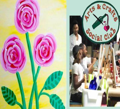 "BYOB Painting Class - ""Three Roses"" (A MOTHERS' DA..."