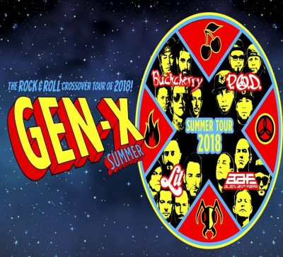 GEN-X Summer Tour: Buckcherry, P.O.D, LIT, Alien A...