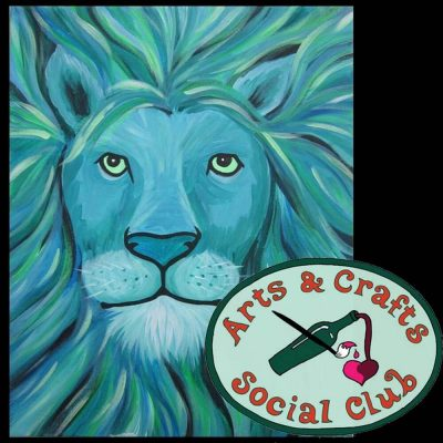 "BYOB Painting Class - ""Aqua Lion"" (a possible Fathers' Day gift!)"