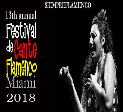 Siempre Flamenco's 13th Annual Festival de Cante Flamenco 2018