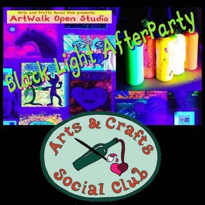 Black Light Glow Paint Party after Art Walk