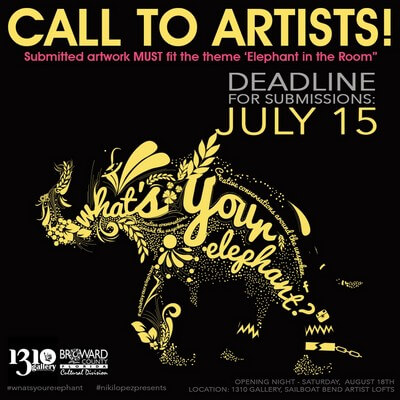 2018 What's Your Elephant Call for Art - Deadline 7/15