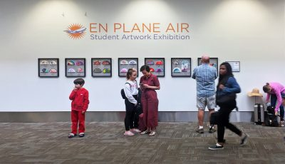 En Plane Air, On view through September in Terminal 2, located pre-security on the departures level.