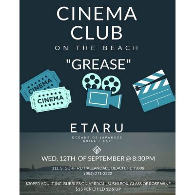 "Cinema Club on the Beach ""Grease"""