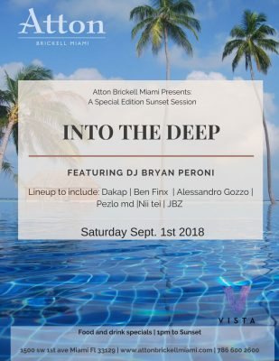 Labor Day Weekend Sunset Sessions At Atton Brickell Miami Presented