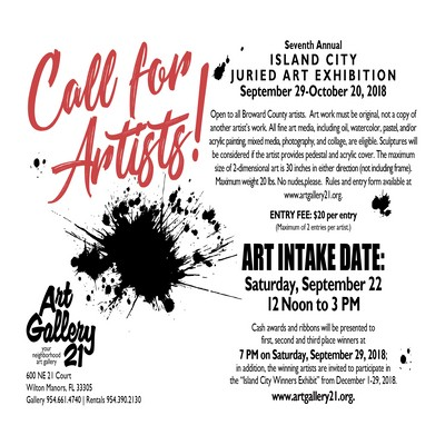 CALL FOR ARTISTS | 7th Annual Island City Juried Art Exhibit