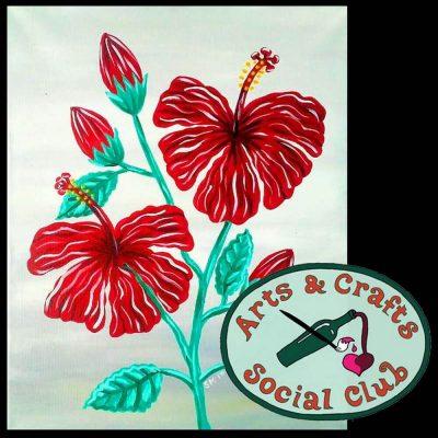 "BYOB Painting Class - ""Hibiscus"""