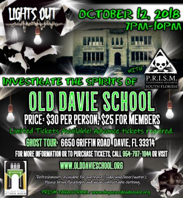 Ghost Tour at Old Davie School