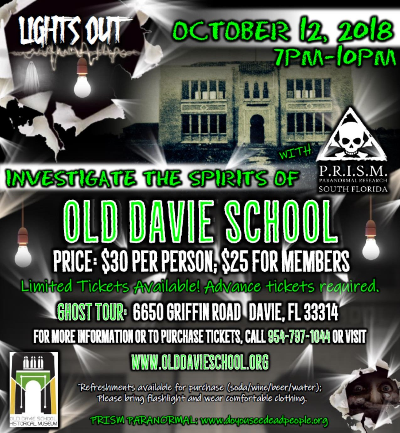 Ghost Tour at Old Davie School presented by Old Davie School