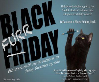 Black Furrday Pet Adoption Event! Friday, November...