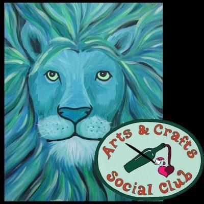 "BYOB Painting Class - ""Aqua Lion"""