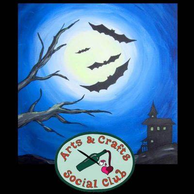 "BYOB Painting Class - ""Halloween Bats"""