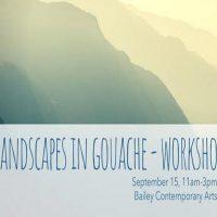 Monthly Art workshop: Gouache Landscape