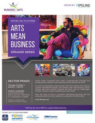 Arts Means Business Speaker Series: Hector Prado