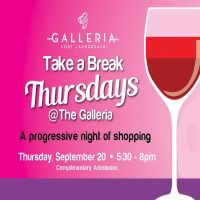 """Take A Break Thursdays"" Friendraiser at The Galleria at Fort Lauderdale"