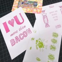 Letterpress Postcards from Paradise