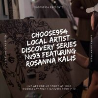 Choose954 Local Artist Discovery Series #93 - Live Art Popup