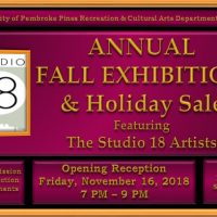 Annual Fall Exhibition & Holiday Sale: Featuring the Studio 18 Artists