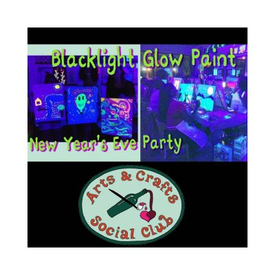 Blacklight Glow Paint New Year's Eve Party - frees...