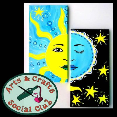 """BYOB Painting Class - """"Solstice"""" (2 PAINTINGS/3 HO..."""