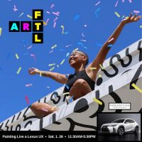Live Art Popup - Painting A Lexus W/ Stephanie Melissa @ Pier 66