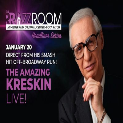 The Amazing Kreskin Live – Direct from His Smash...