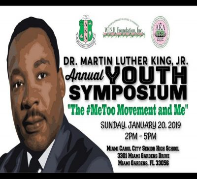 "Dr. Martin Luther King, Jr. Annual Youth Symposium - ""The Me Too Movement and Me"""